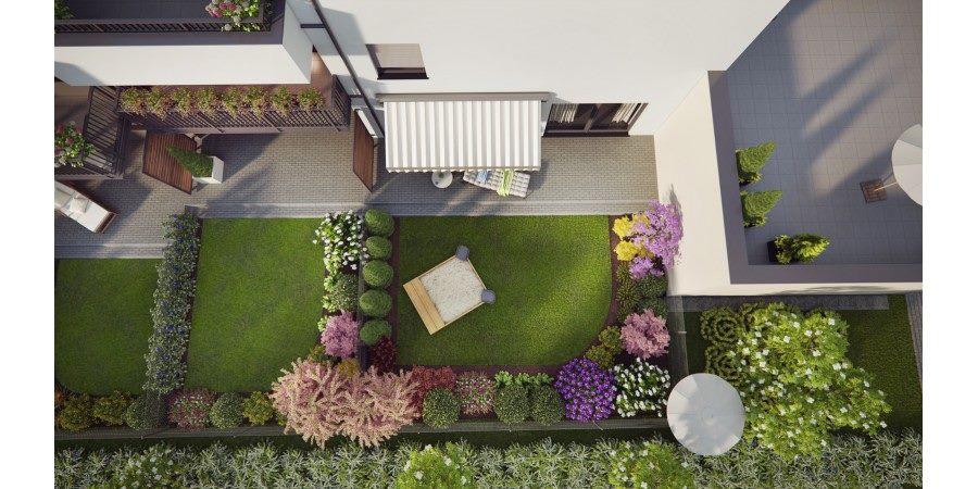 Projekt ogrodu - rzut z góry