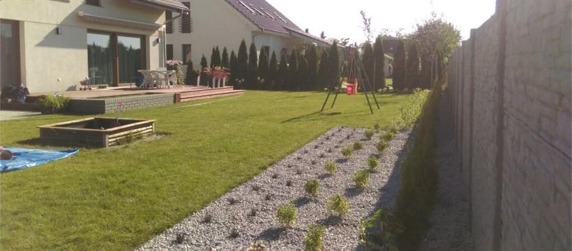 Rabaty żwirowe w ogrodzie